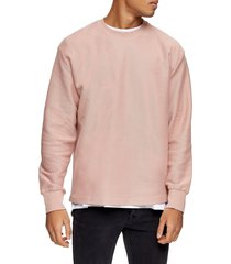 men's topman classic fit crewneck twill sweatshirt