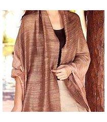 silk shawl, 'bold spice' (thailand)
