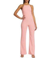 alice + olivia women's adinah high-neck jumpsuit - pink - size 8
