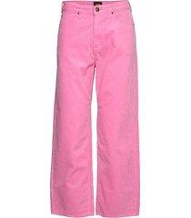 5 pocket wide leg wijde broek roze lee jeans