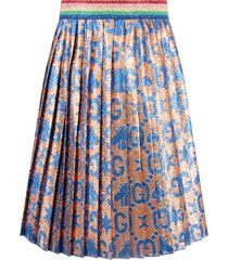 gucci pink girl skirt with azure double gg and bees