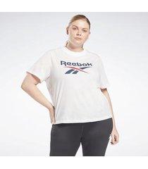 t-shirt reebok sport identity cropped t-shirt (plus size)