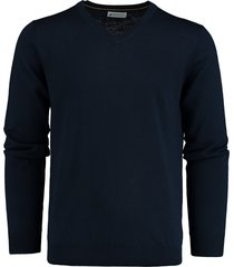 bos bright blue pullover merinowol donkerblauw 19305ar25bo/290 navy