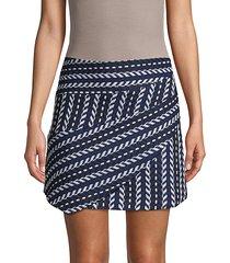 chevron-knit mini skirt