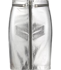 philosophy di lorenzo serafini zip-up mini skirt - silver