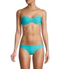 pq women's brigitte bandeau bikini top - blue - size s
