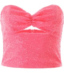 in the mood for love sequined bustier top