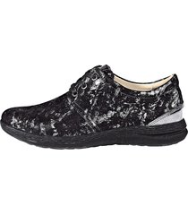 bekväma skor med snörning fidelio svart