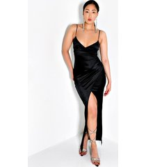 akira just ask satin origami maxi dress