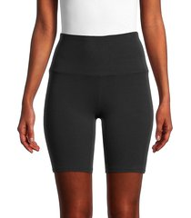 marc new york performance women's stretch-cotton biker shorts - black - size m
