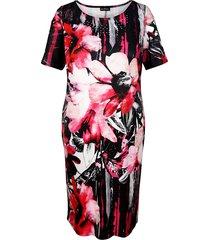 jurk m. collection zwart::wit::pink