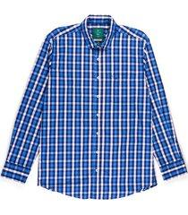 camisa casual manga larga con cuadros slim fit para hombre 97535