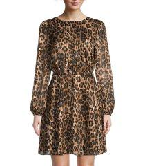 milly women's elma leopard-print mini dress - size 0