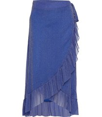 ninnet skirt knälång kjol blå résumé