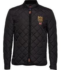 trenton quilted jacket doorgestikte jas zwart morris