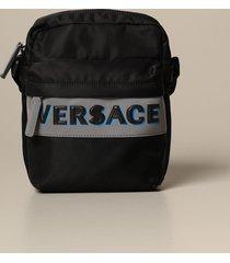versace shoulder bag versace nylon bag with reflective logo