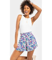 roxinne floral ruffled shorts - multi