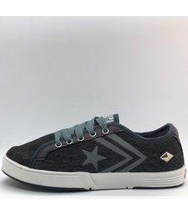 zapatilla gris one foot estrella