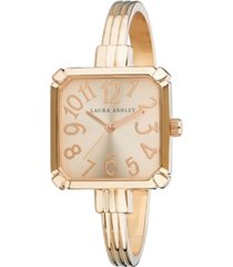 laura ashley rose gold skinny bangle square watch