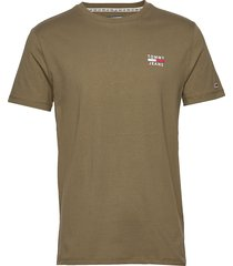 tjm chest logo tee t-shirts short-sleeved grön tommy jeans