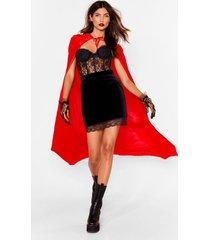 womens hiding in plain sight velvet cape - red