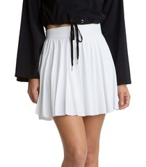juicy couture women's pleated mini skirt - white - size xl
