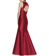alfred sung bow-back trumpet gown