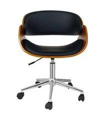 cadeira de escritório diretor giratória pilar preta