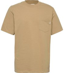 bobby pocket t-shirt t-shirts short-sleeved beige wood wood