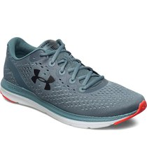 ua charged impulse shoes sport shoes running shoes blå under armour