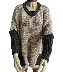 sweater visón zaf ancho combinado