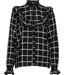 byflori shirt - långärmad skjorta svart b.young