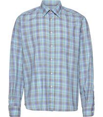 contemporary fit casual lightweight twill shirt overhemd casual groen eton