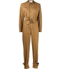 ba & sh chris belted jumpsuit - neutrals