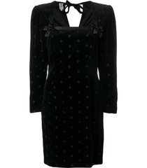 emanuel ungaro pre-owned 1980's structured dress - black