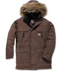 carhartt jas men quick duck sawtooth parka dark canyon brown-xxl