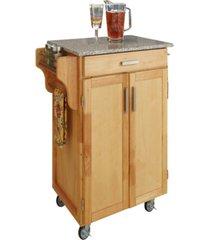 home styles cuisine cart natural finish salt and pepper granite top