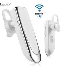 audífonos bluetooth, universal inalámbrica inalámbrica audifonos bluetooth manos libres  4.0 auriculares estéreo ultra largo auricular de negocios en espera para sony iphone samsung (blanco)