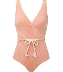 yasmin drawstring one-piece swimsuit