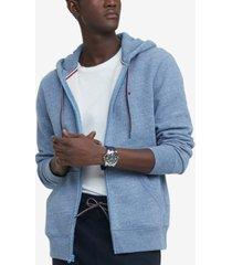 tommy hilfiger men's plains zip-up hoodie
