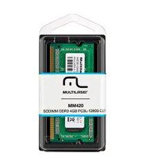 memória para notebook ddr3 4gb pc3l-12800 mm420 multilaser