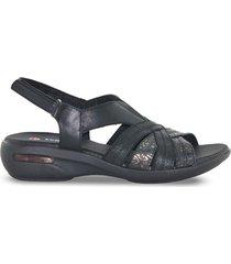 sandalia negra vemmas valen