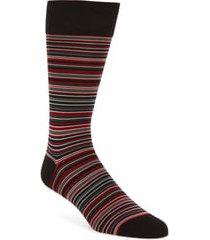men's cole haan multistripe crew socks, size one size - black