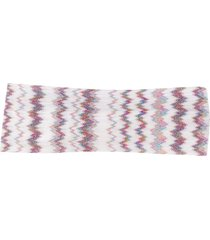 missoni mare sash zigzag-print headband - white