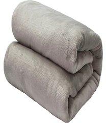 cobertor casal camesa flannel loft cinza
