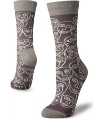 calcetin mujer travel & walk light socks gris lippi