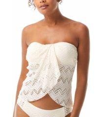 vince camuto crochet draped tankini top women's swimsuit