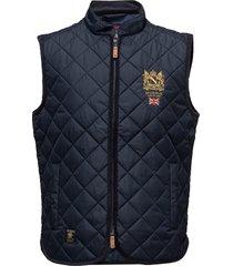 trenton quilted vest vest blauw morris