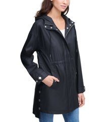 calvin klein jeans high-low snap-side jacket
