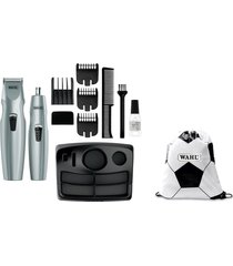 trimmer  11-piezas a pila + tula sporty bag   wahl  5606-1308/sporty gris